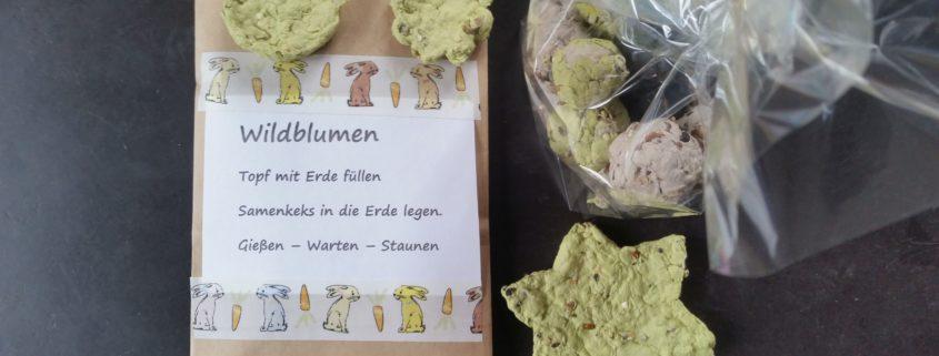 Ein Kleiner Pflanzengruß Zu Ostern Samenkekse Basteln Für Kinder